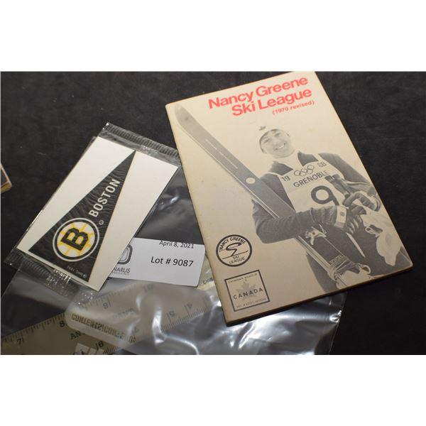SKIING 1970 BOOKLET / BRIUMS PREMIUM PENNANT