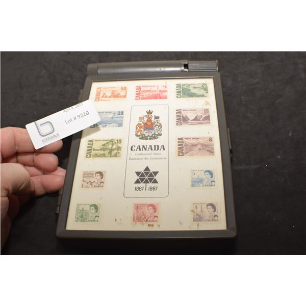 STAMP COLLECTOR BOX AND STAMPS
