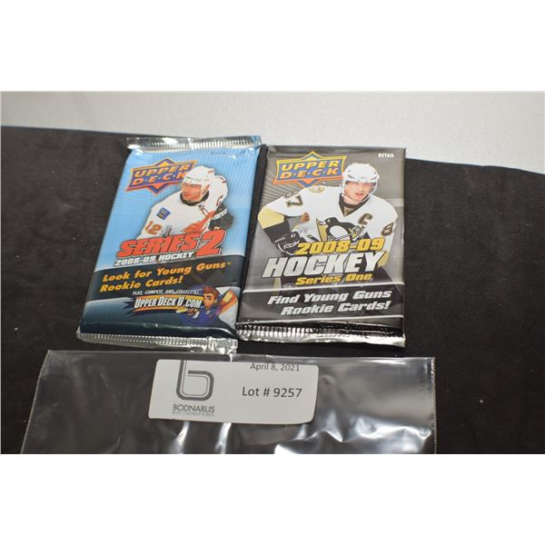 2008-09 SERIES 1 & 2 UPPER DECK SEALED HOCKEY CARDS PACKS