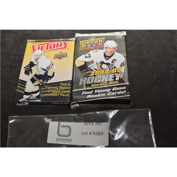 2008-09 SERIES 1  UPPER DECK / VICTORY SEALED HOCKEY CARDS PACKS