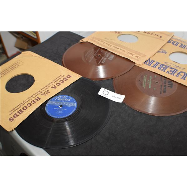 78 RPM RECORDS  - 1 MEL BLANC WOODY WOODPECKER & 2 BROWN RECORDS