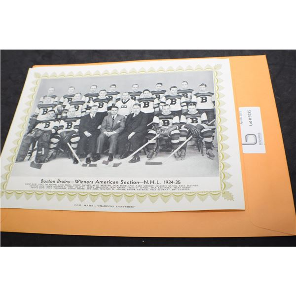 CCM NHL TEAM PICTURE 1934-35 BOSTON BRUINS