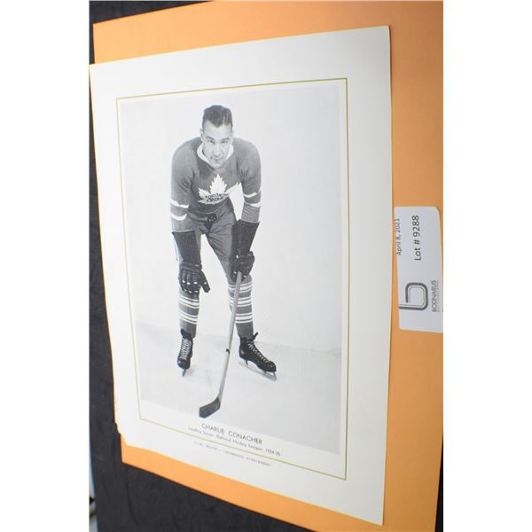CCM HOCKEY  PICTURE 1934-35 CHARLIE CONACHER TORONTO MAPLE LEAFS
