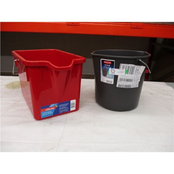 Pair of Plastic Wash Buckets
