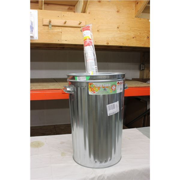 Metal Trash Can and Roll of Window Film: 180ft in length