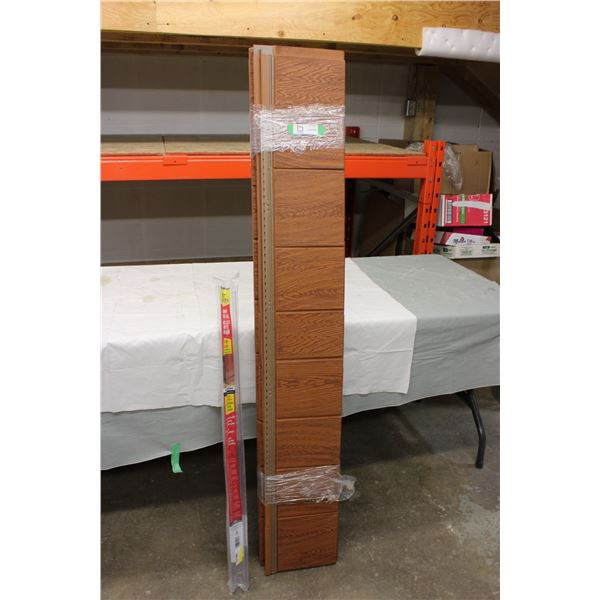 Bundle of Plastic Shelving: 9IN x 60IN and Bottom Door Seal