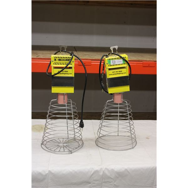 (2X THE MONEY) Industrial Electric Hanging Lamps (No Bulbs)