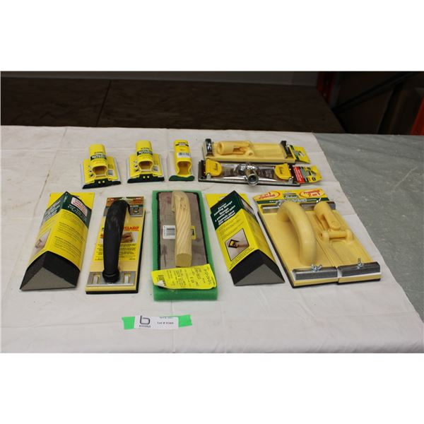 Assorted Sanding + Drywall Tools