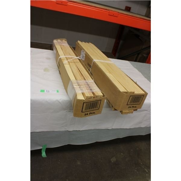 "Two Boxes of 36"" Wooden Stakes"