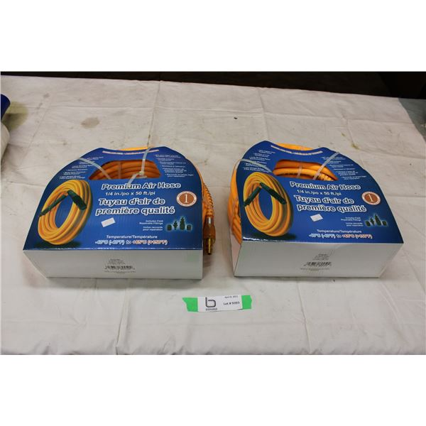 "(2X THE MONEY) Pair of 1/4"" 50ft Air Hoses"