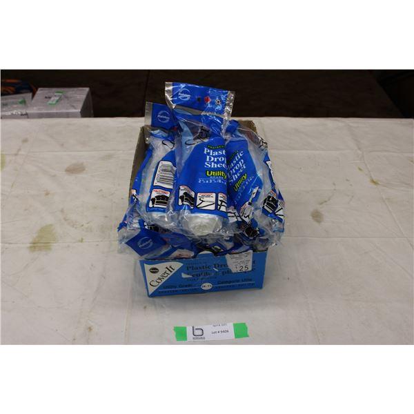 Box of Plastic Drop Sheets