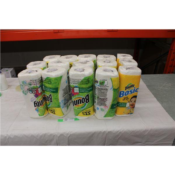 Sixteen Rolls of Paper Towel