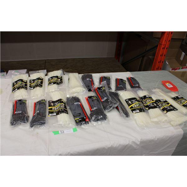 Twenty Packages of Zip Ties
