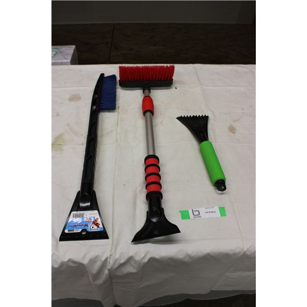 Three Piece Snow Brush and Scraper Attachment