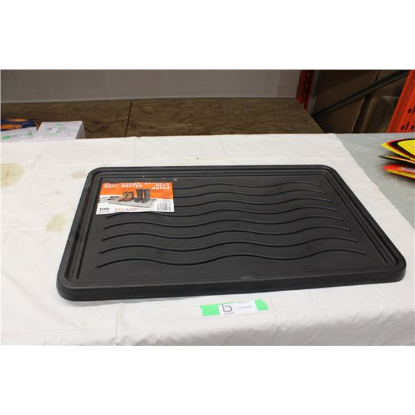 "Two 17"" x 27"" Plastic Boot Trays"