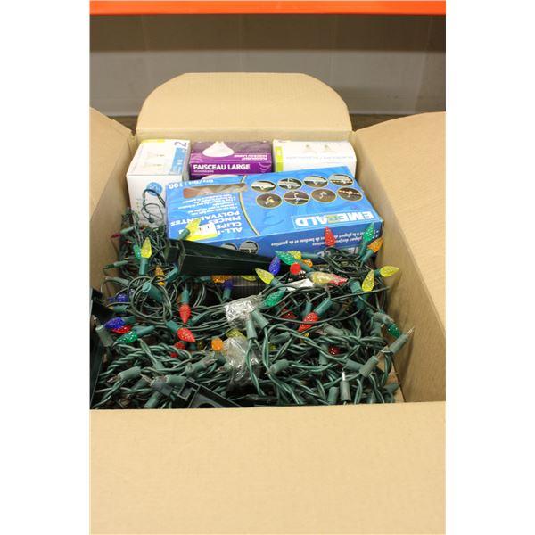 Box of Christmas Lights