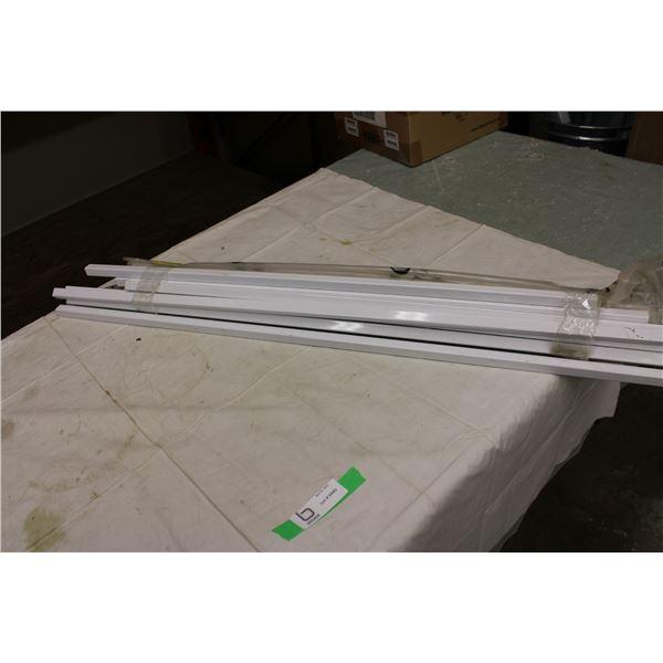 """Bundle of 38"""" Aluminum Railing and Box of Shelf Hooks"""