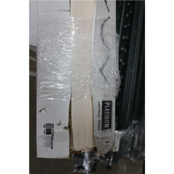 Box of Aluminum 12ft Corner Trim and Drywall Trim