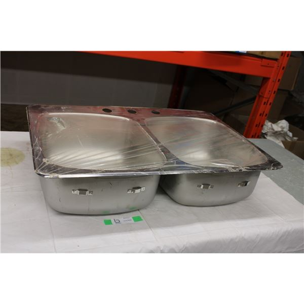 """Stainless Steel Double Sink 21"""" x 31"""""""
