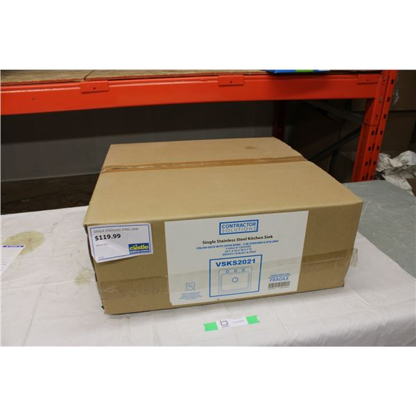 """Stainless Steel Sink 20"""" x 20.5"""" in Box"""