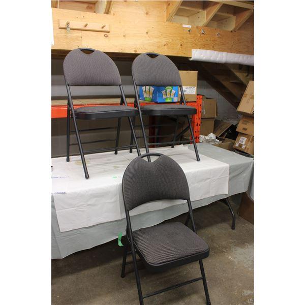(3X THE MONEY) Three Folding Chairs