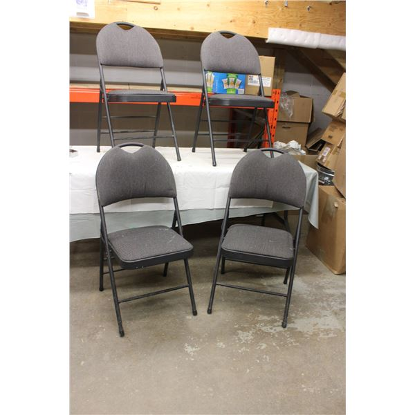 (4X THE MONEY) Four Folding Chairs