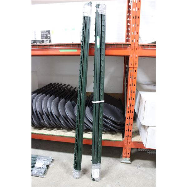 (2X THE MONEY) Two Bundles of 6ft Iron Snow Fence Poles