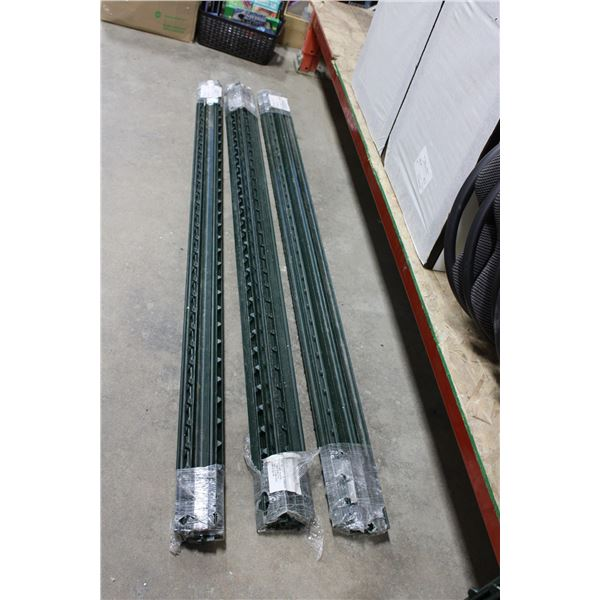 (3X THE MONEY) Three Bundles of 6ft Iron Snow Fence Poles