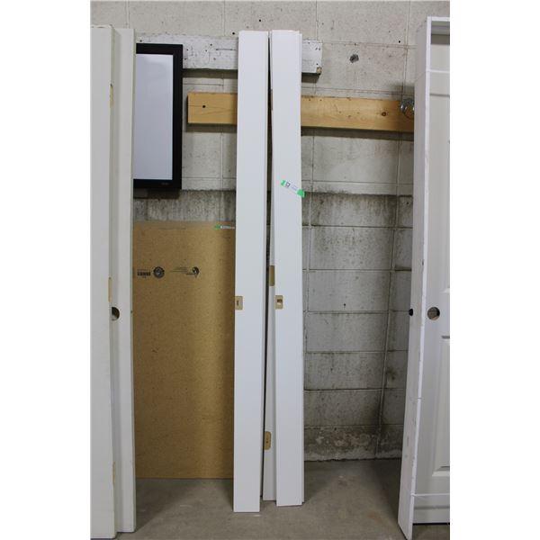 """Five Wooden Door Frame Side Panels: 4.5"""" x 82"""""""