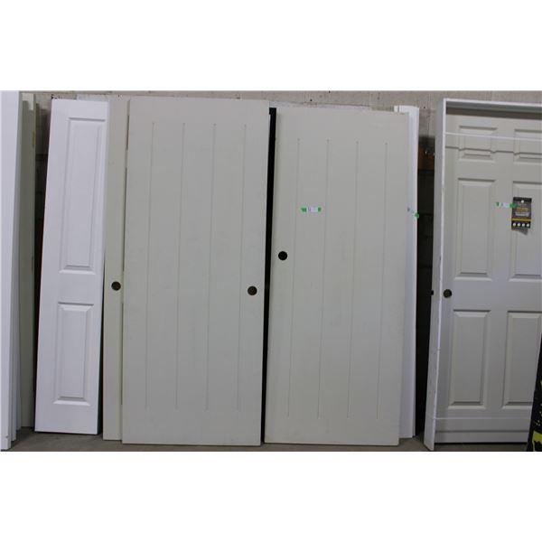 """(2X THE MONEY) Pair of Wooden Doors: 32"""" x 80"""""""