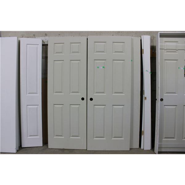 """(2X THE MONEY) Pair of Wooden Doors: 30"""" x 80"""""""