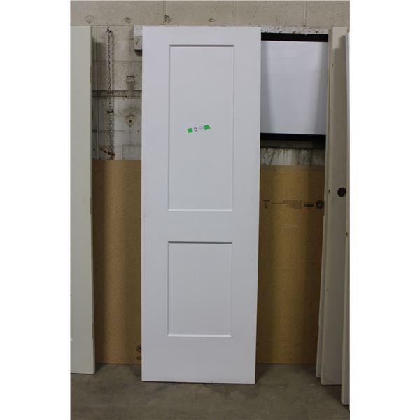 """White Wooden Door: 26"""" x 80"""""""