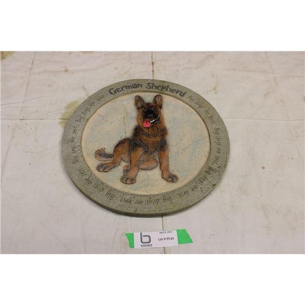German Shepherd Ceramic Wall Plaque