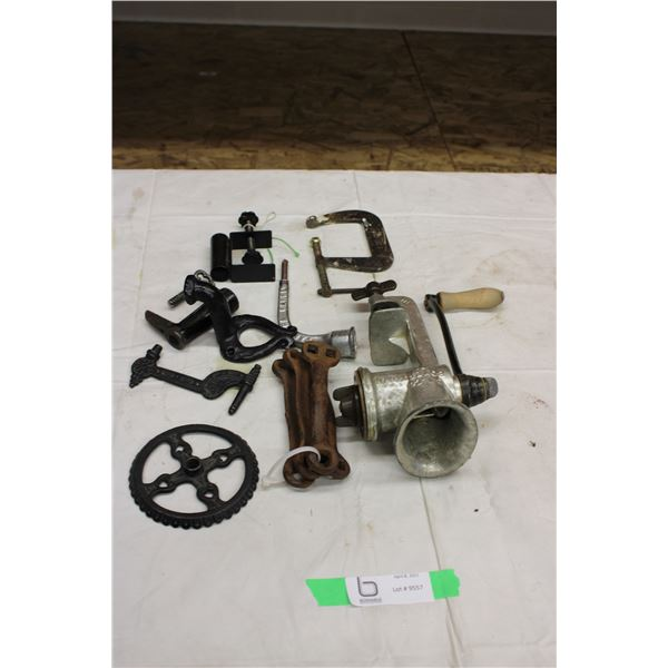 Meat Grinder and Clamps