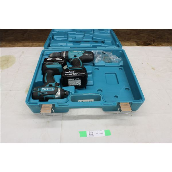 Pair of Makita Drills with Carrying Case