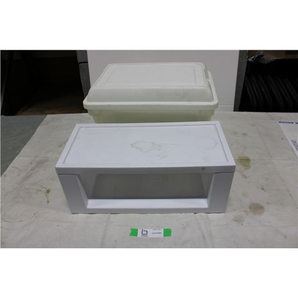 Pair of Plastic Storage Containers
