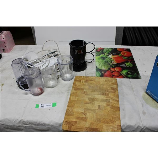 Magic Bullet and Cutting Boards