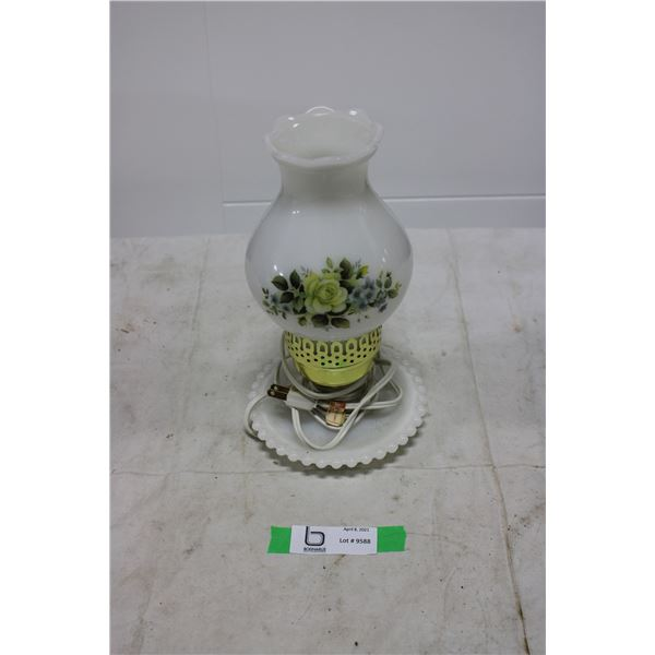 Electric Coal Oil Lamp with Base