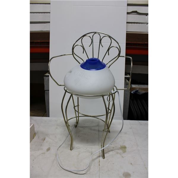 Vicks Dehumidifier and Small Wire Chair