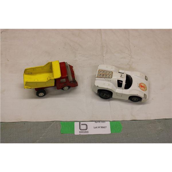2 Tonka Toys Car and Dump Truck