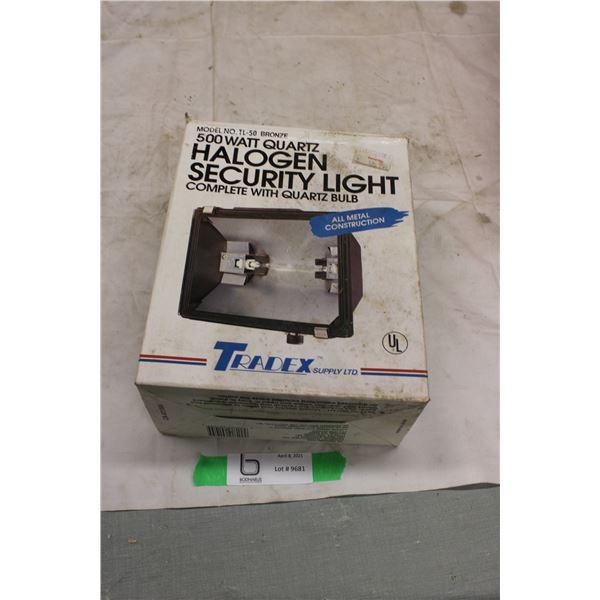 500 Watt Quartz Halogen Security Light