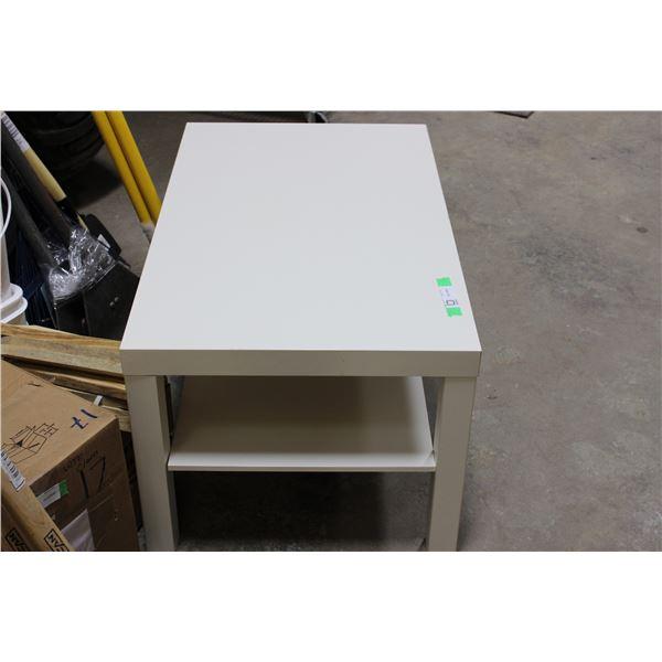 """White Coffee Table 18"""" x 22"""" x 35"""""""