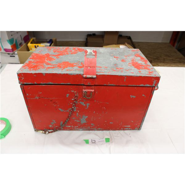 Empty Metal Storage Box