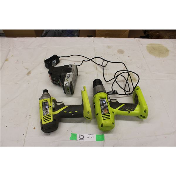 RYOBI Drill and Impact with Battery and Charger Working