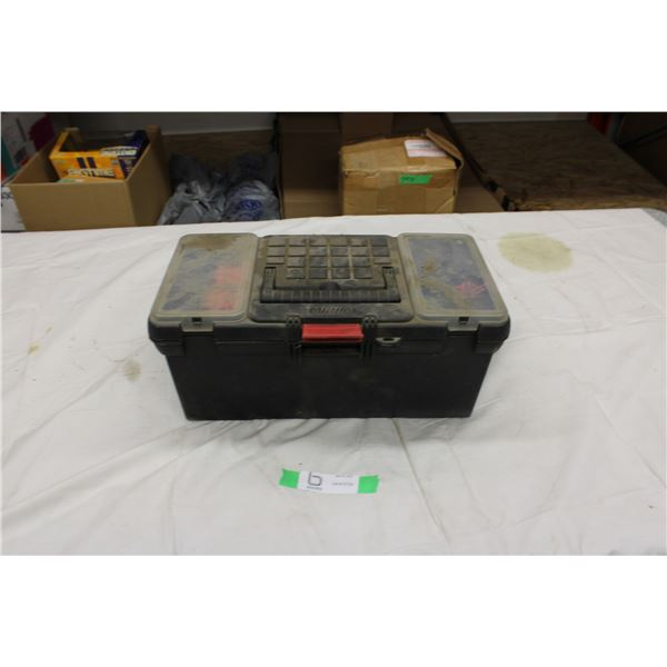 Plastic Tool Box with Soldering and Misc Electrical Tools