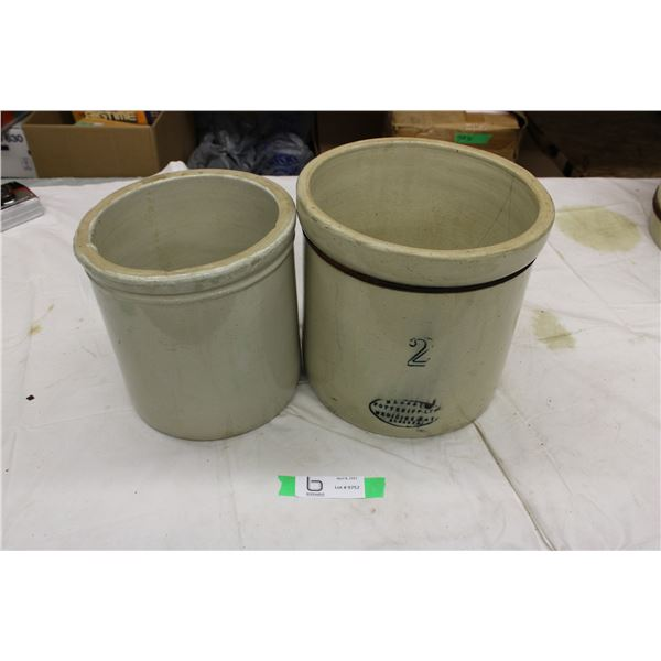 Medalta 2 Gallon Crock with Other Crock