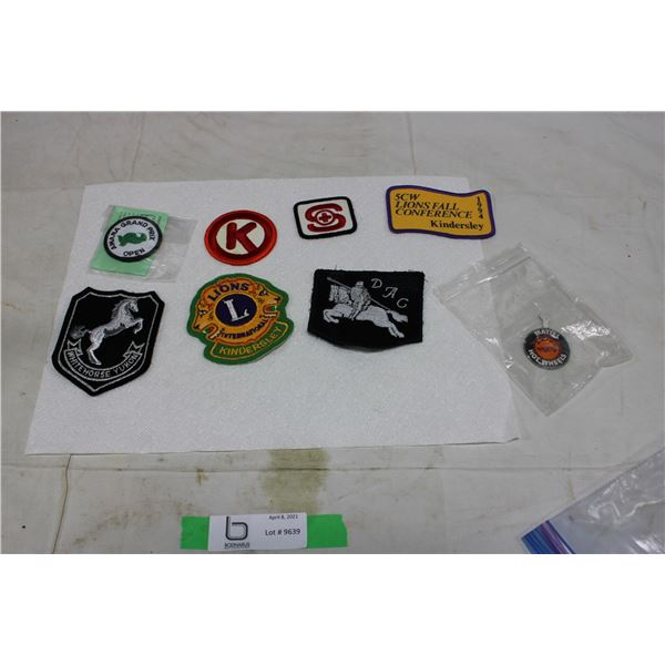 Assorted Patches and Matchbox Car Collector Token