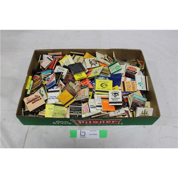 Box of Assorted Advertising Matchbooks