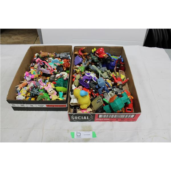 Two Boxes of Misc. Toy Figurines and Action Figures