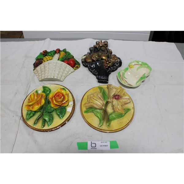 Five Pieces of Decorative Chalkware